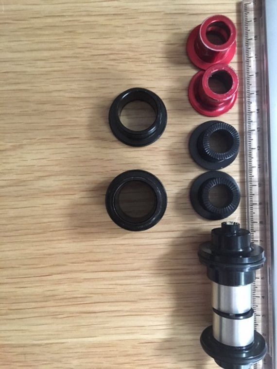 Spank diverse Adapter für OOZY wheel/hub VR/HR 20, 15 & 9mm