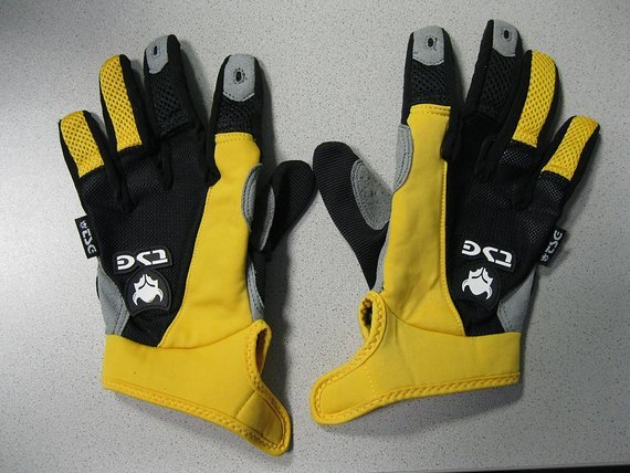 TSG Langfinger- Handschuhe gelb/schwarz