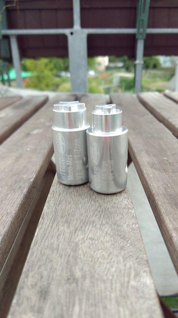 Hope Bore Cap Tools Mono Mini, V2, T-Zone, 6Ti large und Mono M4 small
