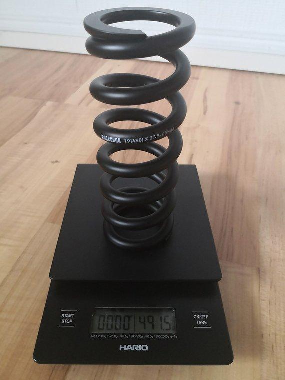 Rock  Shox RockShox Stahlfeder für metrische Dämpfer 151 mm 57,5 - 65 mm Feder Super deluxe superdeluxe ultimate coil