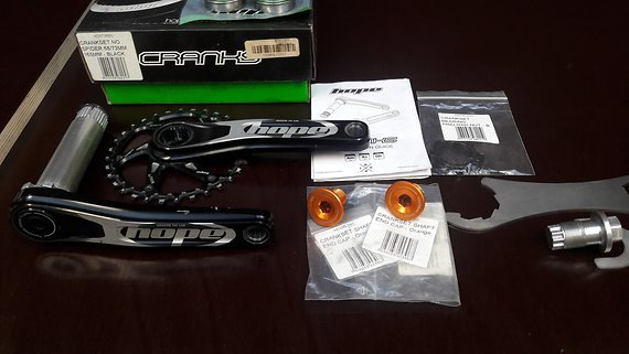 Hope kurbel crankset 68/73 165mm direct mount boost 32T race face