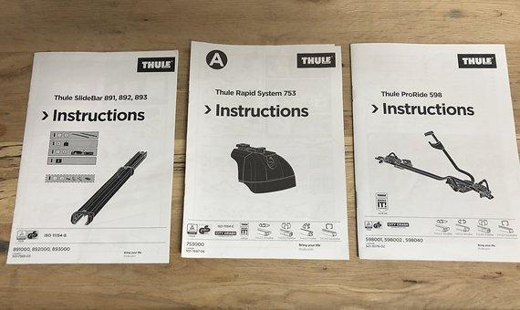 Thule Fahrrad Dachträger System für 2 Fahrräder