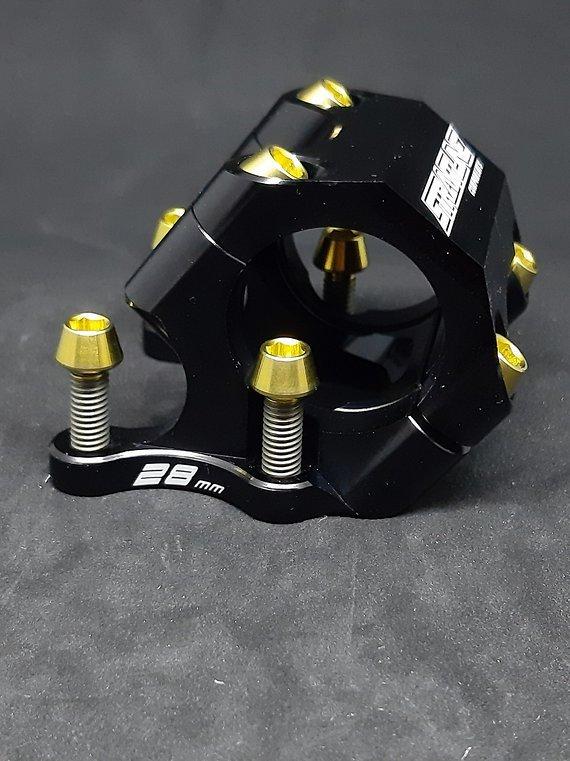 Ti-Suspension Direct Mount Schrauben Titan 4x gold M6x20 NEU