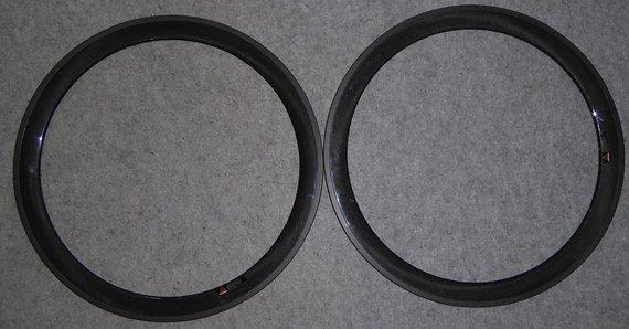 2 Felgen Rennrad Carbon 385g 50mm Hochprofil tubular Rennradfelge