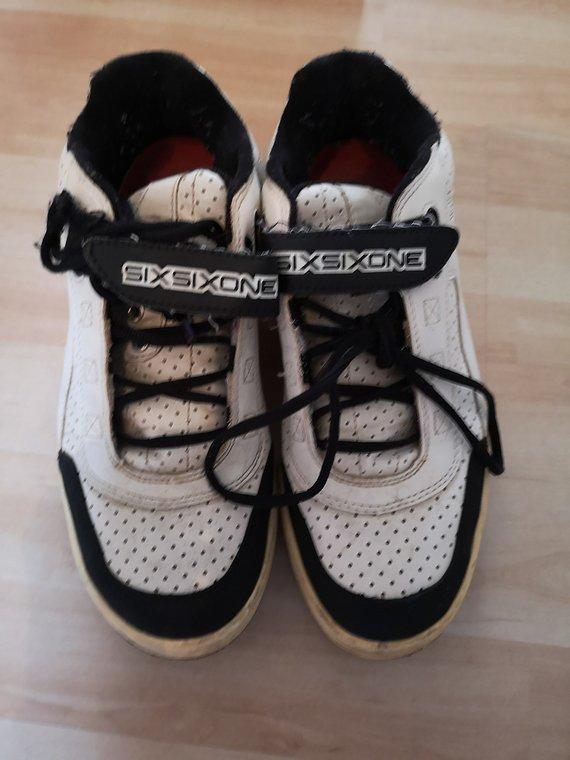 661 SixSixOne Filter SPD EU 42 US 8,5 schwarz/weiß || Schuhe shoes