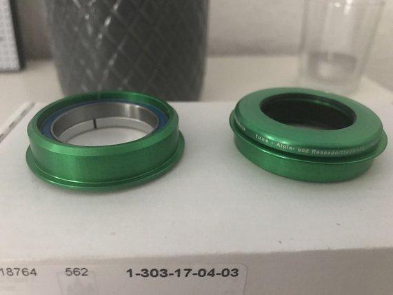 Tune Bubu Steuersatz grün semi integriert NEU für 1 1/8 Gabelschaft ZS44/28.6 | ZS44/30
