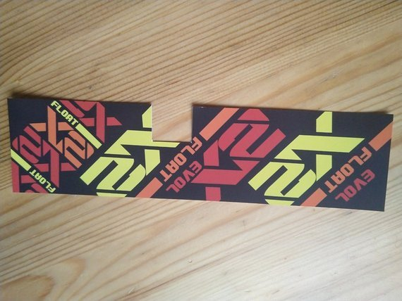 Fox X2 vinyl Sticker / Decal for 190x51mm, 200x51mm and 200x57mm shock RED / YELLOW / ORANGE
