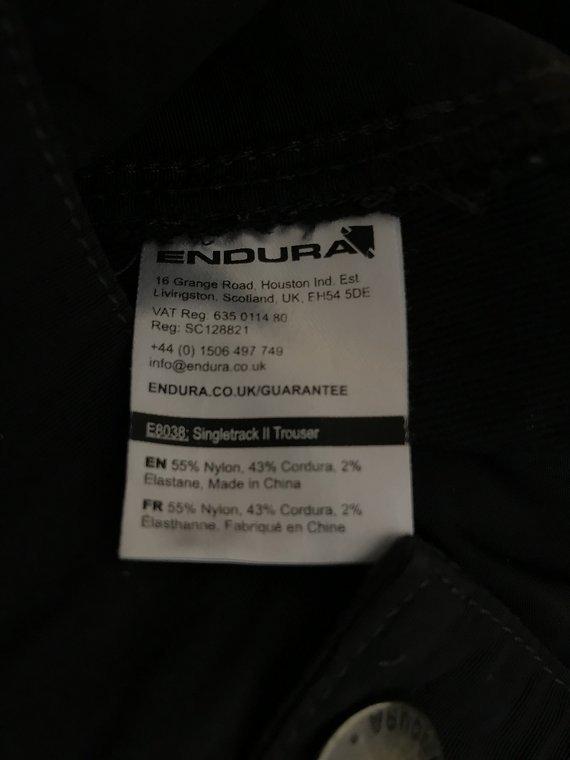 Endura Singletrack 2 Trouser, black, Größe M