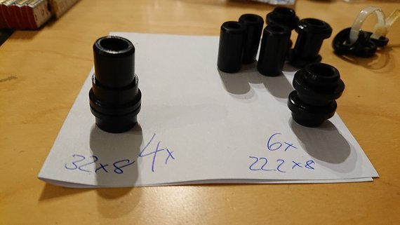 RockShox Dämpferbuchse 22,2x8mm, 32x8mm *NEU*