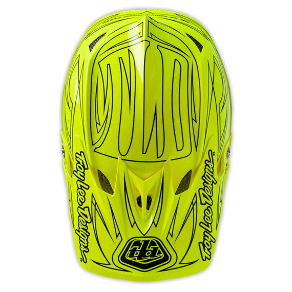 Troy Lee Designs D3 VISIER PINSTRIPE II FLO YELLOW LTD. EDITION Ersatzvisier
