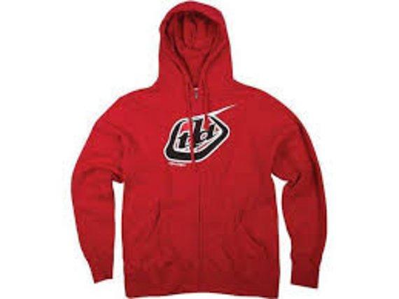 Troy Lee Designs Classic Logo Fleece Zip Hoodie Gr. L *NEU*