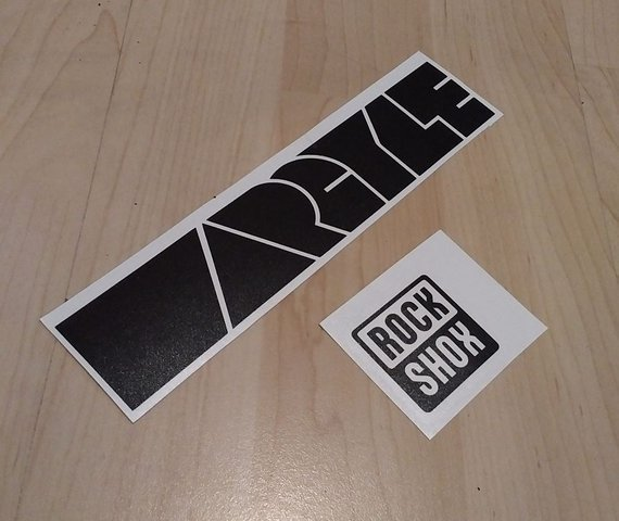 RockShox Argyle Decals Aufkleber Sticker für Federgabel schwarz