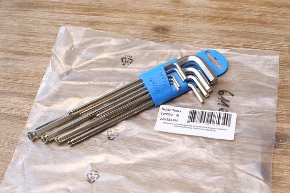Unior Stiftschlüssel Set INBUS mit Kugelkopf und Clip