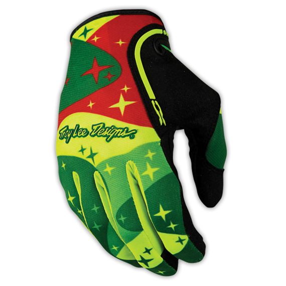 Troy Lee Designs XC GLOVE Gr.M COSMIC CAMO FLO YELLOW/GREEN
