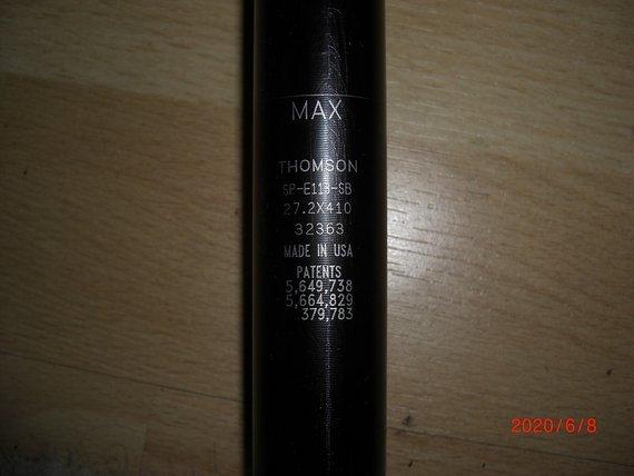 Thomson Elite Thomson Sattelstütze Seatback in 410x27,2mm, schwarz,neuwertig