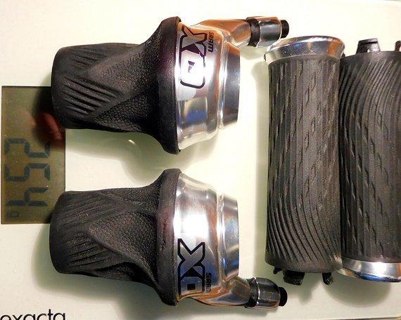 SRAM X0 Grip Shift / Drehgriffschalter silber 2x10 fach
