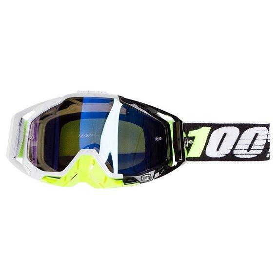 100% MX Brille Goggle Racecraft Emrata - Anti Fog Blue Mirror Lens