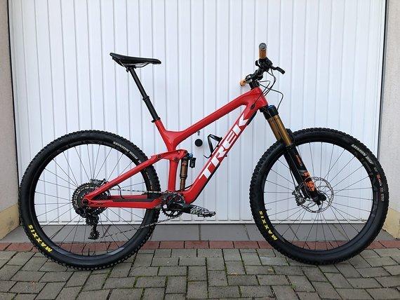 """Trek Slash 29 2018 Rot Custom Enduro Bike Aufbau Größe L 19,5"""""""