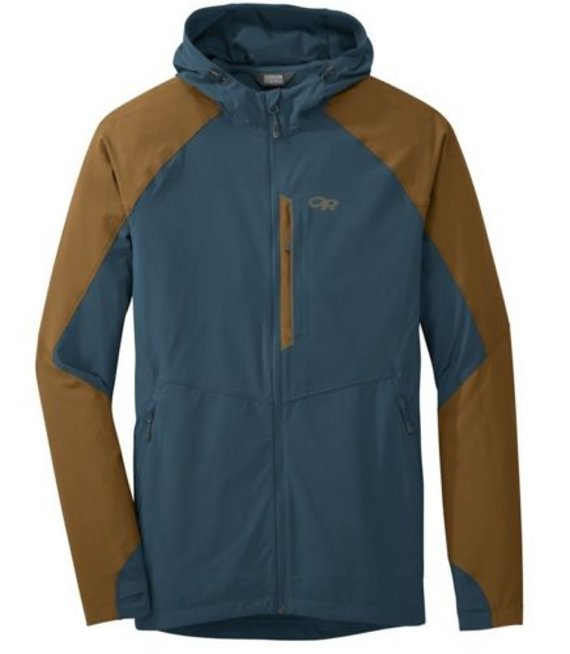 Outdoor Research Ferrosi Hooded Jacket Peacock/Saddle