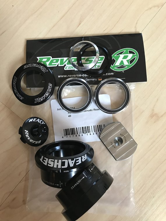Reverse Components Reach Set Steuersatz +6mm ZS49/28.6 ZS49/30 z.B Santa Cruz V10