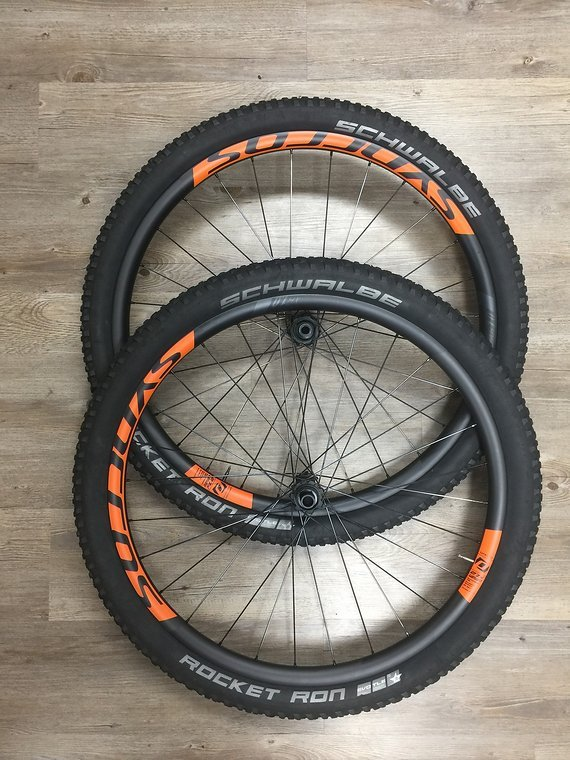 "Syncros XR  1.0 Carbon orange 27,5"" Laufräder Boost Centerlock"