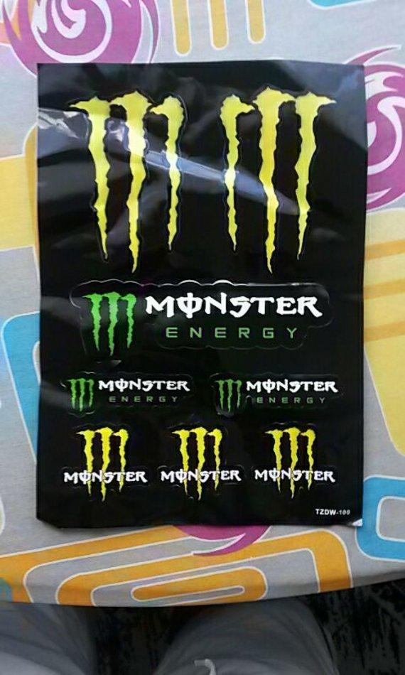 Monster Energy Aufkleber A4 Blatt Verschiedenen Ripper