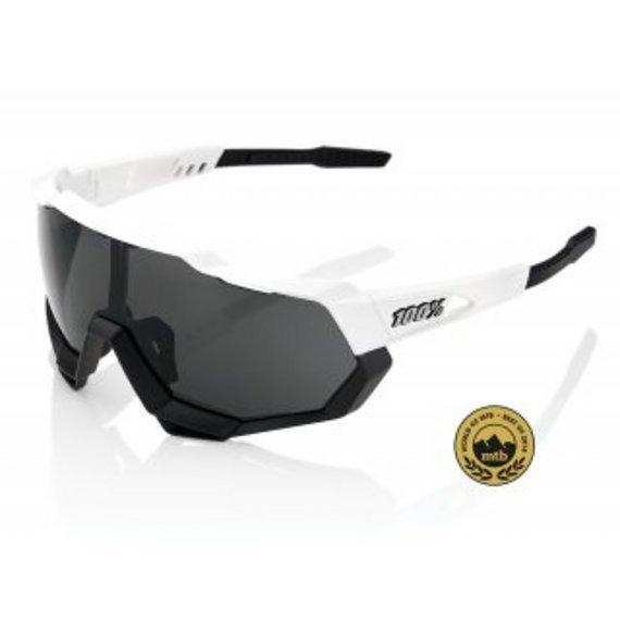 100% Speedtrap (MTB) Sportbrille Matte White/Black - Smoke Lens