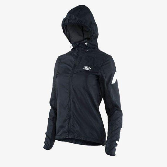 100% Womens Windbreaker Jacke schwarz Gr. S *NEU*