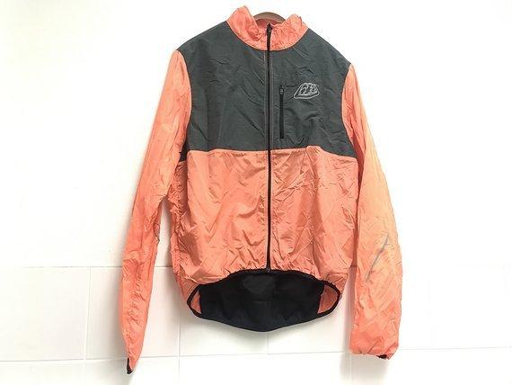Troy Lee Designs ACE Windjacke Jeansgrau/orange in Größe Large