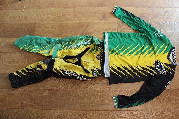 Troy Lee Designs GP Shocker Green Yellow Set 34/L
