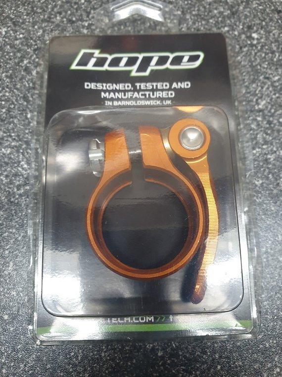 Hope Sattelklemme 36,4mm | Orange | Schnellspanner