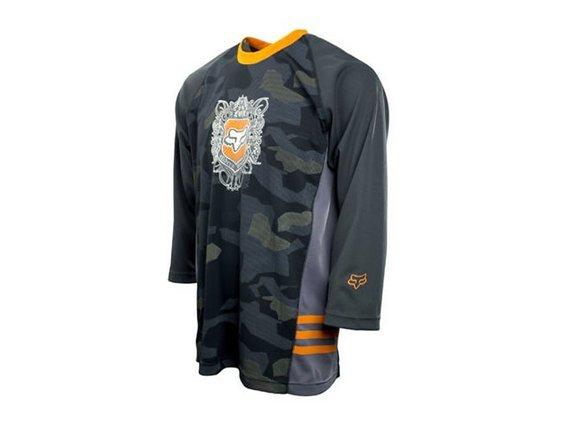 Fox Clothing Fox Jersey Commando Dark Stone Camo Shirt S