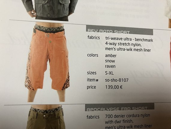 Sombrio Rev Moto Shorts Hose Enduro Gr. L NEUwertig