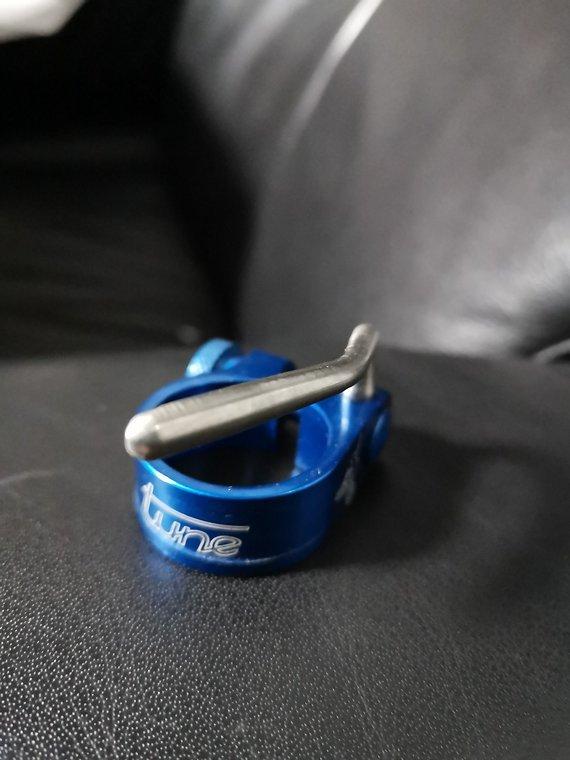 Tune Würger Sattelklemme 30,0mm Blau NOS NEU
