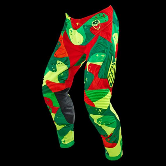 Troy Lee Designs SE Air Pant Cosmic Camo Green/Flo Yellow Gr. 36 *NEU*