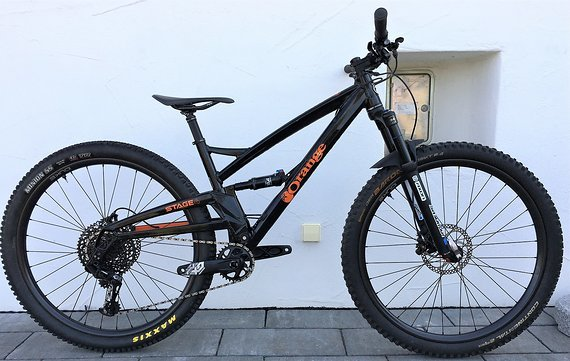 "Orange Stage 4 M 29"" 2019er Modell 12,8kg , Alu DRC 27mm Laufradsatz, Eagle, Testbike"