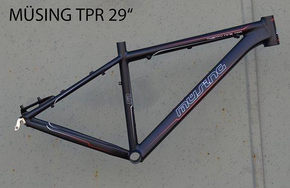 "Müsing Offroad TPR 29"" Mountainbike Rahmen 44 cm in schwarz"