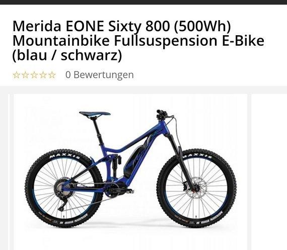 Merida EONE sixty 800 Gr. S