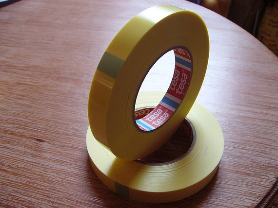 Tesa 4289 Tesa-Strapping Klebeband 4289, 19mm(66 Meter) Tubless Yellow-Tape, Felgenband