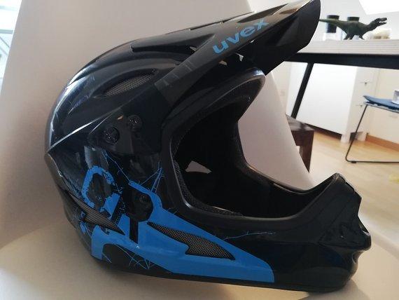 Uvex Full Face Helm Schwarz / Blau, Enduro, DH baugl. SixSixOne