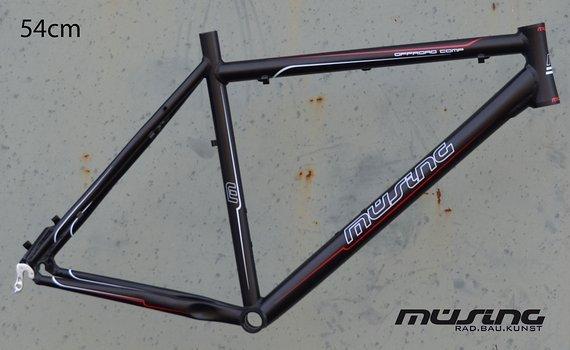 "Müsing Offroad Comp Mountainbike Rahmen 54 cm in schwarz matt 26"""