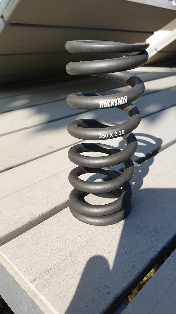 RockShox Stahlfeder 350 x 2.25 für Kage / Vivid R2C Dämpfer mit Einbaulänge 200x57 mm - grau