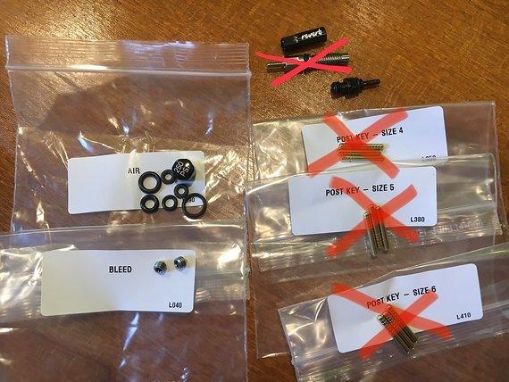 RockShox Reverb Stealth Kleinteile, Erstzteile, Führungsstifte, Dichtungen, etc.