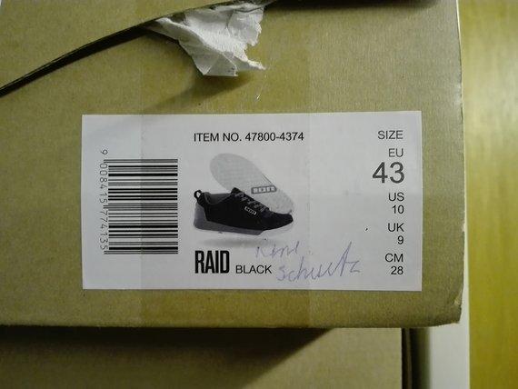 ION Raid black EU 43
