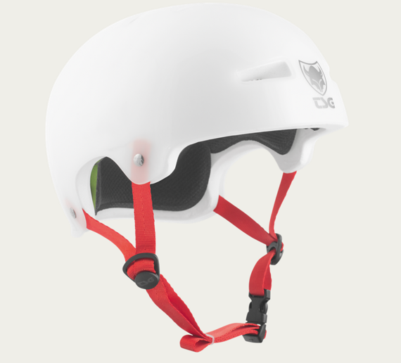 TSG Evolution BMX Helm White Clear