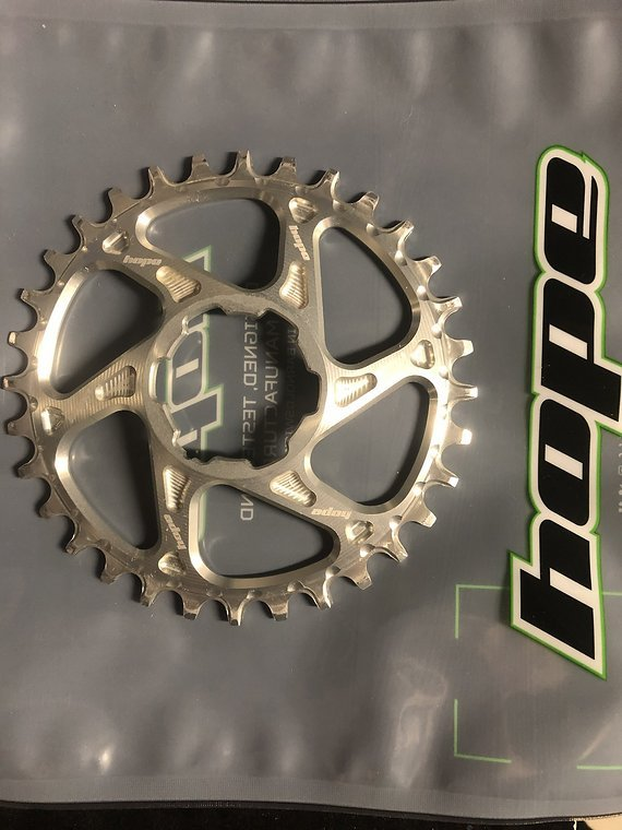 Hope Spiderless Retainer Narrow-Wide 32 Chainring for Hope Crankset - silber