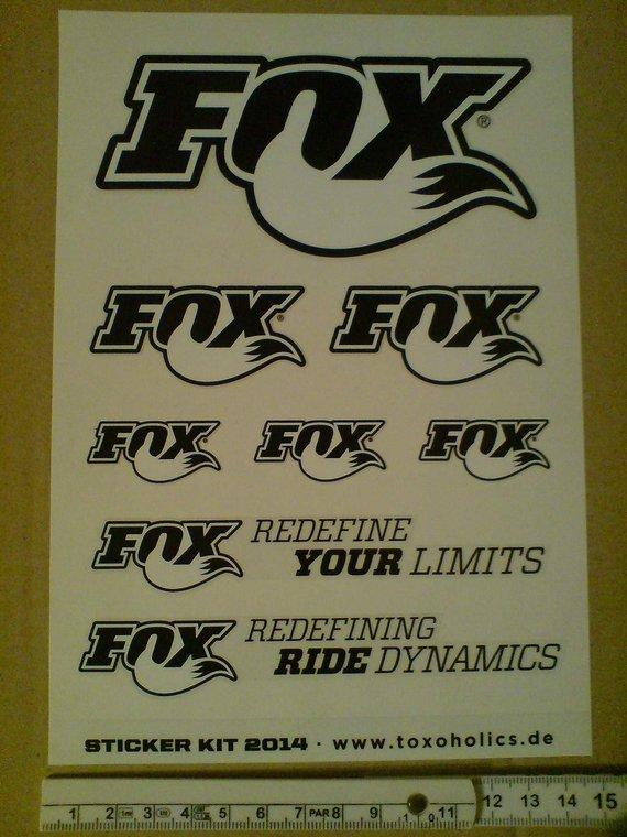 Fox Aufkleber Sticker Set Bike Fahrrad 32 34 36 40 federgabel dämpfer