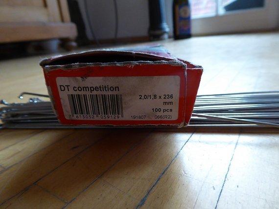 DT Swiss Competition Speichen 2,0/1,80x236mm in Silber, 48 Stk.