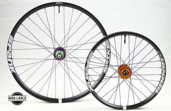 """Spank Spike 33 / Spoon 28 Cargo-Bike / Lastenrad  Laufradsatz 26""""/20"""" mit Hope Pro 4 Evo Naben /  Bike-Lädle Laufradbau"""
