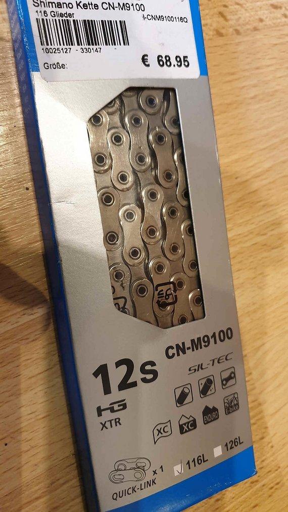 Shimano XTR 12fach CN-M9100, Neu